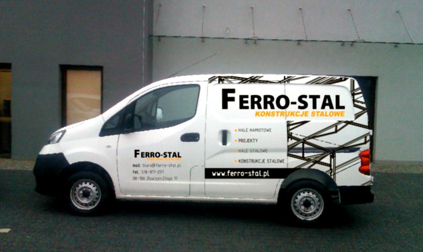 oklejanie-samochodów-siedlce-Projekt-i-realizacja-Samochody-firmowe-firmy-Ferro-stal