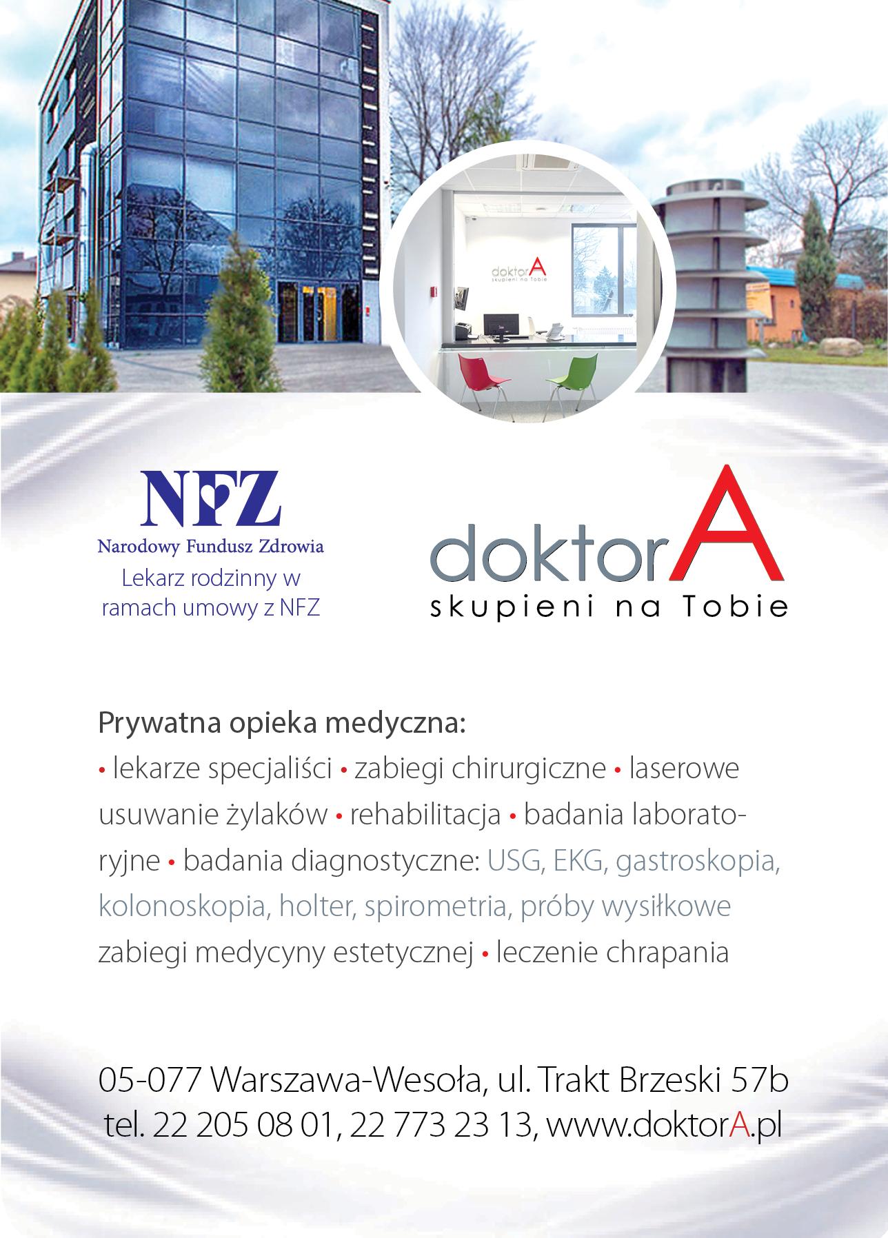 NFZ ulotka dla doktorA