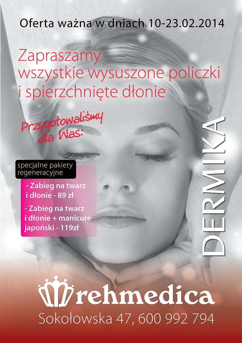 Plakat dla fitness klubu Rehmedica.