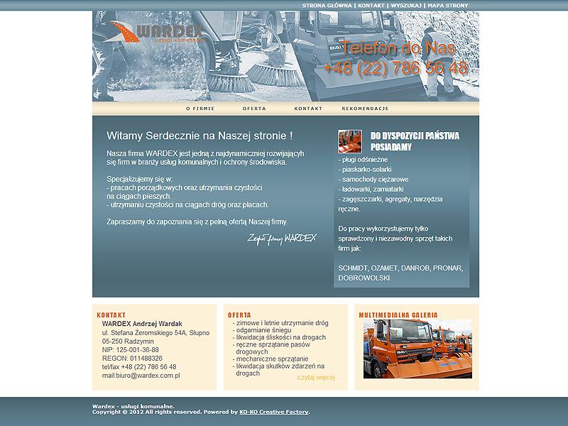 Wardex- usługi komunalne