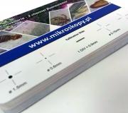 Wizytówki PCV drukowane ploterem UV, super dokładność. Extra cena!