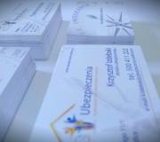 Projekt wizytówki dla firmy ubezpieczeniowej.